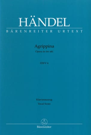 Georg-Friedrich Haendel - Agrippina Hwv 6 - Partition - di-arezzo.fr