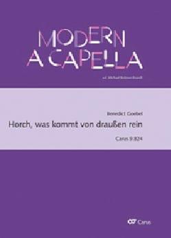 Benedict Goebel - Horch, was kommt von draussen rein - Partition - di-arezzo.fr