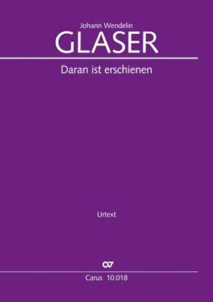 Johann Wendelin Glaser - Daran Ist Erschienen The Liebe Gottes - Sheet Music - di-arezzo.co.uk