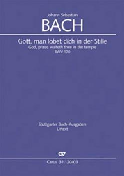 Jean-Sébastien Bach - Cantate 120 Gott, man lobet dich in der Stille - Partition - di-arezzo.fr