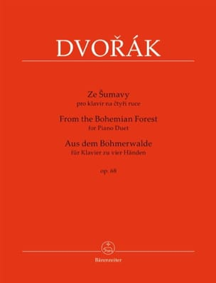 Anton Dvorak - De la Forêt de Bohême Opus 68. 4 mains - Partition - di-arezzo.fr