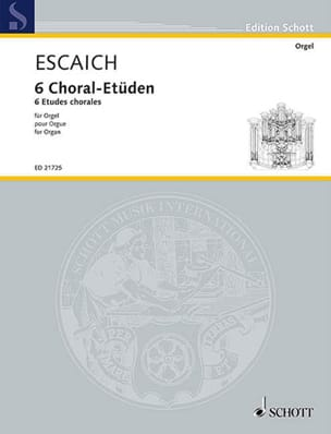 6 Choral-Etüden Thierry Escaich Partition Orgue - laflutedepan