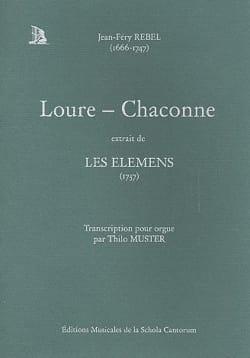 Jean-Féry Rebel - Loure-Chaconne - Partition - di-arezzo.fr