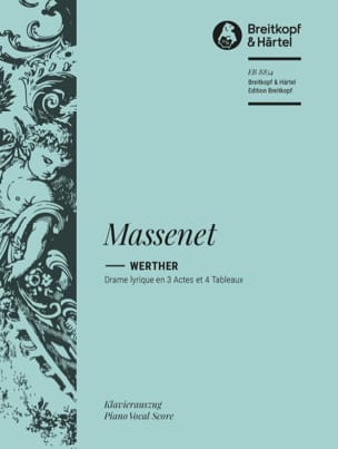 Jules Massenet - Werther - Sheet Music - di-arezzo.com