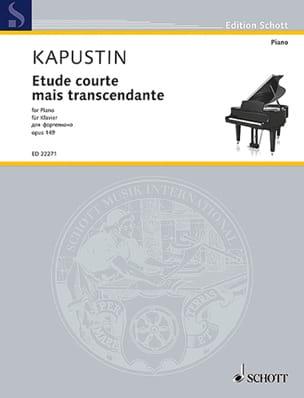 Etude courte mais transcendante op. 149 Nikolai Kapustin laflutedepan