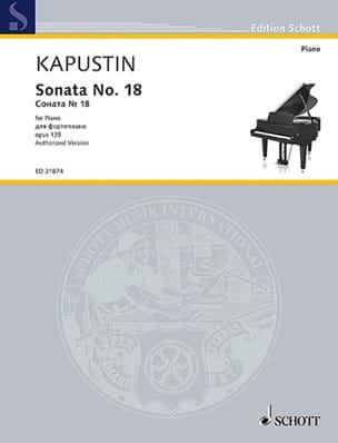 Nikolai Kapustin - Sonate pour Piano n° 18 Opus 135 - Partition - di-arezzo.fr