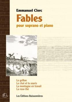 Emmanuel Clerc - Fables - Partition - di-arezzo.fr