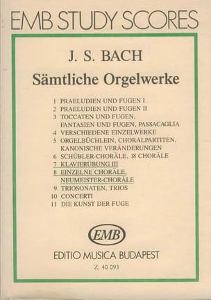 BACH - Sämtliche Orgelwerke IV. POCHE - Partition - di-arezzo.fr