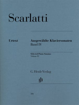 Sonates choisies pour piano. Volume 4 SCARLATTI Partition laflutedepan
