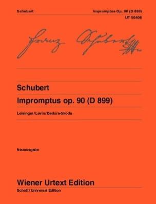 Impromptus op. 90 D 899 SCHUBERT Partition Piano - laflutedepan