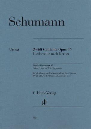 Robert Schumann - 12 Gedichte op. 35 - Partition - di-arezzo.fr