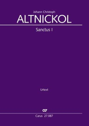 Sanctus I - Johann Christoph Altnickol - Partition - laflutedepan.com