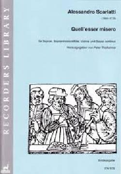 Alessandro Scarlatti - Quell' esser misero - Partition - di-arezzo.fr