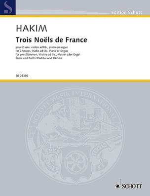 Naji Hakim - Tres navidades en Francia - Partitura - di-arezzo.es