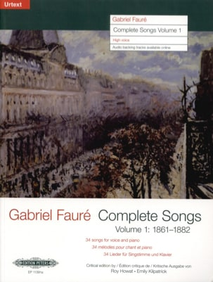 Gabriel Fauré - Complete songs Volume 1 High Voice - Sheet Music - di-arezzo.com