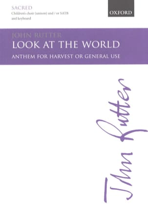 John Rutter - Look at the world - Sheet Music - di-arezzo.com