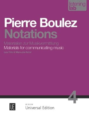 Notations analyse BOULEZ Partition Piano - laflutedepan