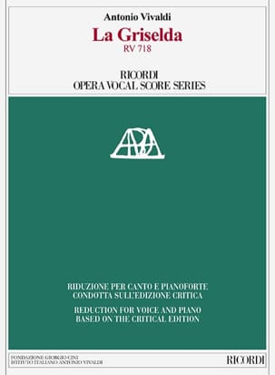 VIVALDI - The Griselda RV 718. Critical Edition - Sheet Music - di-arezzo.com