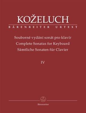 Leopold Antonin Kozeluch - Sonates pour clavier. Volume 4 - Partition - di-arezzo.fr