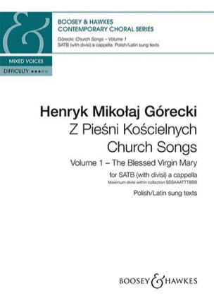 Church songs. Volume 1 GORECKI Partition Chœur - laflutedepan