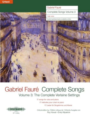 Gabriel Fauré - Complete Songs Volume 3 High Voice - Sheet Music - di-arezzo.co.uk