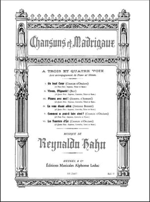 Reynaldo Hahn - Songs and madrigals - Sheet Music - di-arezzo.com