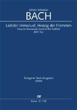 Jean-Sébastien Bach - Cantate 123 Liebster Immanuel, Herzog der Frommen - Partition - di-arezzo.fr