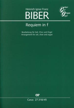 Requiem en fa - BIBER - Partition - Chœur - laflutedepan.com