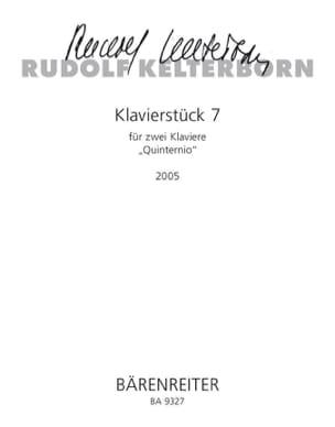 Rudolf Kelterborn - Klavierstuck 7. 2 pianos - Sheet Music - di-arezzo.com