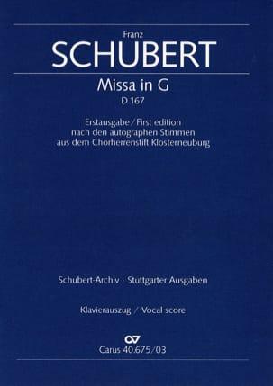 SCHUBERT - Mass in G Major D 167 - Sheet Music - di-arezzo.co.uk