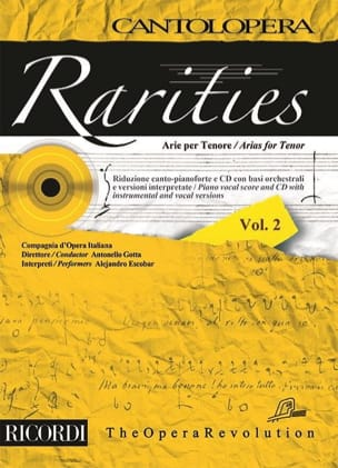 Rarities. Arie per tenor. Volume 2 Partition Recueils - laflutedepan