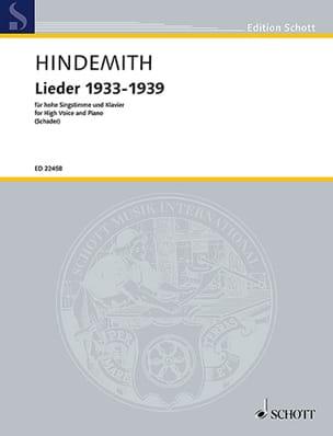 Paul Hindemith - Lieder 1933-1939 - Sheet Music - di-arezzo.com