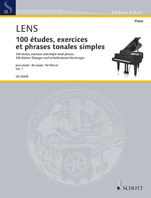 Nicholas Lens - 100 studies, exercises and simple tonal phrases. Volume 1 - Sheet Music - di-arezzo.com