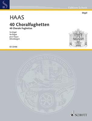 40 Choralfughetten - Joseph Haas - Partition - laflutedepan.com