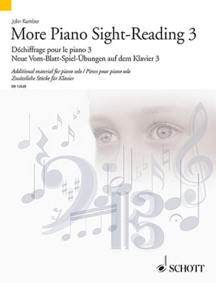 More Piano Sight-Reading. Volume 3 John Kember Partition laflutedepan