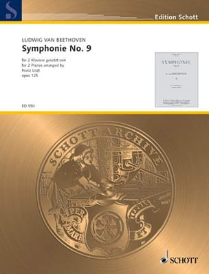 Beethoven Ludwig van / Liszt Franz - Symphonie n° 9 Op. 125 - Partition - di-arezzo.fr