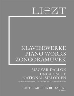 Franz Liszt - Hungarian Folk Songs and other Melodies. Supplément 7 - Partition - di-arezzo.fr