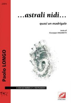 Paolo Longo - Astrali nidi ... - Sheet Music - di-arezzo.com
