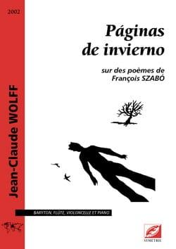 Paginas de invieno - Jean-Claude Wolff - Partition - laflutedepan.com