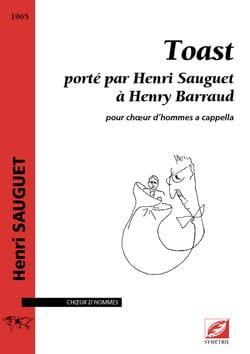 Toast Henri Sauguet Partition Chœur - laflutedepan