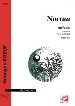 Noctua op. 89 Georges Boeuf Partition Alto - laflutedepan