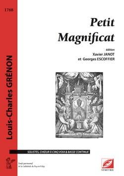 Louis-Charles Grénon - Petit magnificat - Partition - di-arezzo.fr