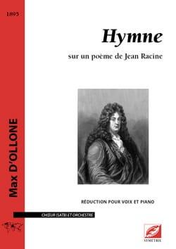 Max d' Ollone - Hymne - Partition - di-arezzo.fr
