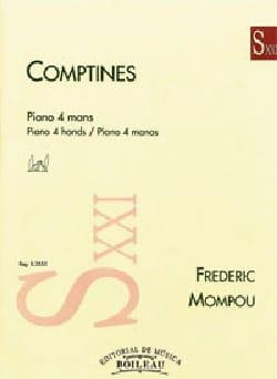 Federico Mompou - Comptines. 4 mains - Partition - di-arezzo.fr