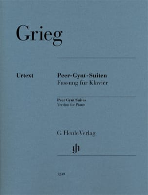 Peer Gynt - Suites N° 1 et 2 GRIEG Partition Piano - laflutedepan