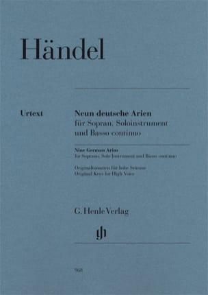 HAENDEL - 9 Deutsche Arien Hwv 202-210 - Partition - di-arezzo.fr