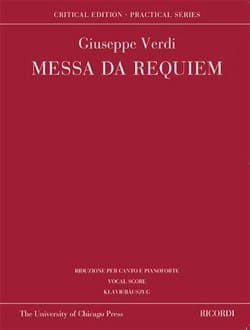 Giuseppe Verdi - Messa da Requiem. Edition Critique - Partition - di-arezzo.fr
