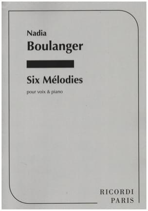 Nadia Boulanger - 6 Mélodies - Partition - di-arezzo.fr