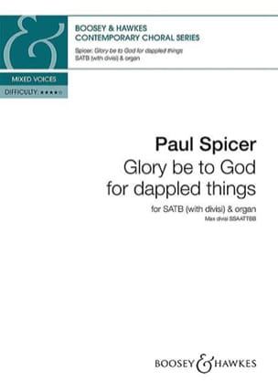 Glory be to God for dapped things Paul Spicer Partition laflutedepan