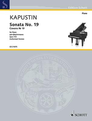 Sonate pour Piano n° 19 Opus 143 - Nikolai Kapustin - laflutedepan.com